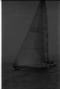 Round Ireland Yacht Race.  (R81)..1988..18.06.1988..06.18.1988..18th June 1988..The Round Ireland Yacht Race set sail from Wicklow today. Yachts from all over Europe took part in the start as the race got underway. The race is sponsored by Cork Dry Gin...K150 Woodchester Challenge is pictured chasing the early leader Whyte and Mackay Drum