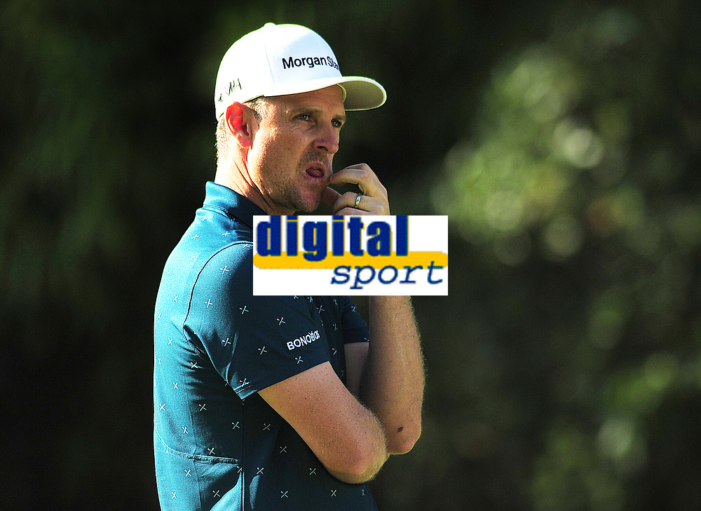Golf - 2019 BMW PGA Championship - Thursday, First Round<br /> <br /> Justin Rose of England, at the West Course, Wentworth Golf Club.<br /> <br /> COLORSPORT/ANDREW COWIE