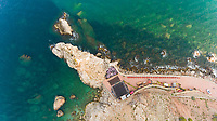 Aerial view of Passeig Molinet observation deck, Spain.