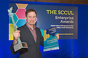 27/01/2014   Kenneth Keavey Green Earth Organics on being the overall winner of the SCCUL Enterprise Awards   at the SCCUL Enterprise Awards in the Bailey Allen NUIG.<br /> Photo:Andrew Downes