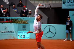 May 8, 2019 - Madrid, Spain - Stan Wawrinka (SUI) in his match against Guido Pella (ARG) during day five of the Mutua Madrid Open at La Caja Magica in Madrid on 8th May, 2019. (Credit Image: © Juan Carlos Lucas/NurPhoto via ZUMA Press)