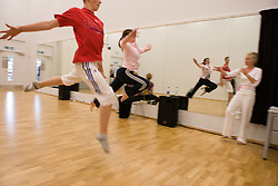 Students auditioning for a dance performance,