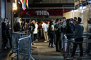 "People enjoy a late after mid-night out in Soho's 'G.A.Y., Late' in London's West End on early Monday, Sept 14, 2020. The public has been urged to act ""in tune"" with Covid-19 guidelines as the ""rule of six"" restrictions is into force on Monday. The British government's scientific advisory board announced on Friday that the reproduction number of coronavirus transmission across the UK was now over 1.0. The Science and the Scientific Advisory Group for Emergencies (SAGE) said the R-value was now between 1.0 and 1.2. (VXP Photo/ Vudi Xhymshiti)"