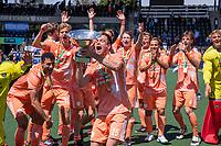 AMSTELVEEN - Thierry Brinkman (Ned)   viert het kampioenschap tijdens de finale van het EK Hockey tussen Duitsland en Nederland in het Wagener Stadion op 12 juni 2021 in Amstelveen. COPYRIGHT KOEN SUYK