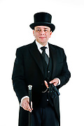Philip Smyth, an undertaker with Chelsea Funerals, with his top hat & silver topped cane, is an expert on Victorian funerals