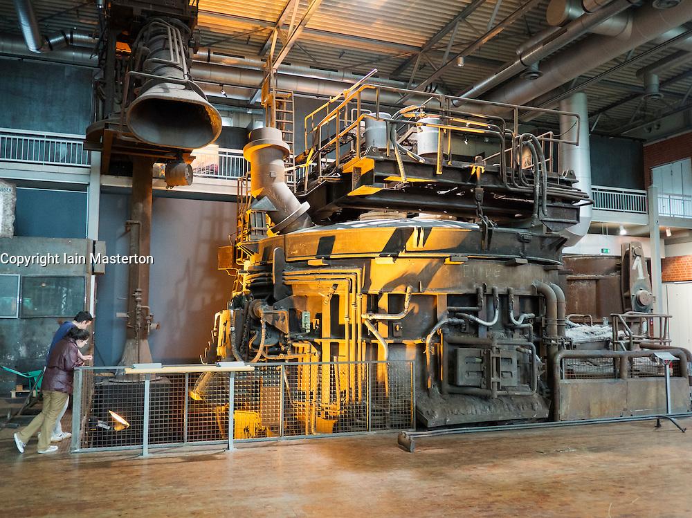 Blast furnace exhibit at Deutsche Arbeitsschutzausstellung DASA or German Museum of Occupational Health and Safety in Dortmund Germany
