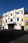 Art Deco architectural details of Palace cinema, Devizes, Wiltshire, England, UK