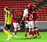Goal 1-0 - Famara Diedhiou (9) of Bristol City celebrates scoring the opening goal during the EFL Sky Bet Championship match between Bristol City and Huddersfield Town at Ashton Gate, Bristol, England on 26 January 2021.