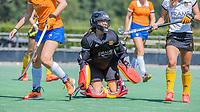 BLOEMENDAAL   - keeper Hanna Klunder (Vict)  oefenwedstrijd dames Bloemendaal-Victoria, te voorbereiding seizoen 2020-2021.   COPYRIGHT KOEN SUYK