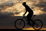 Mountain bike cycling, Smögen, Bohuslän, Smogen;  Bohuslan; Sweden, NB3452