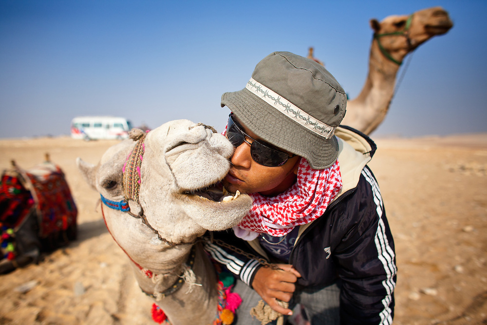 A Camel Jockey in Egypt