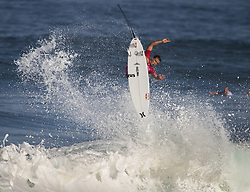 December 11, 2017 - Banzai Pipeline, HI, USA - BANZAI PIPELINE, HI - DECEMBER 11, 2017 - Julian Wilson of Australia completes an aerial 360¼ in the first round of the Billabong Pipe Masters. (Credit Image: © Erich Schlegel via ZUMA Wire)