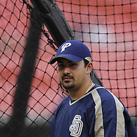 01 June 2007:  San Diego Padres first baseman Adrian Gonzalez (23) takes batting practice prior to the game against the Washington Nationals.  The Nationals defeated the Padres 4-3 in 10 innings at RFK Stadium in Washington, D.C.  ****For Editorial Use Only****
