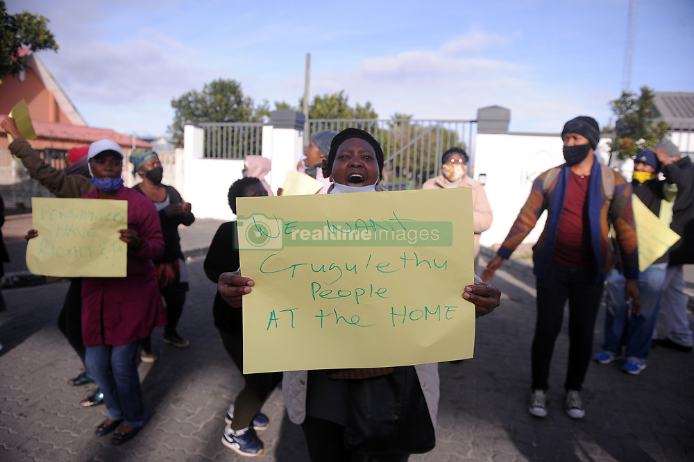 South Africa - Cape Town - 24 - August - 2020 Gugulethu resident protest outside Gugulethu Old aged Home after reports of elderly people being abused by director of the centre  Photographer Ayanda Ndamane African News Agency(ANA)