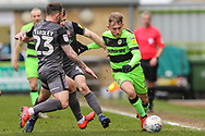 Forest Green Rovers George Williams(11) on the ball during the EFL Sky Bet League 2 match between Forest Green Rovers and Lincoln City at the New Lawn, Forest Green, United Kingdom on 2 March 2019.