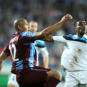 Trabzonspor's Paulo Henrique Carneiro FILHO (L) during their UEFA Champions League group stage matchday 2 soccer match Trabzonspor between Lille at the Avni Aker Stadium at Trabzon Turkey on Tuesday, 27 September 2011. Photo by TURKPIX