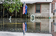 Floodwaters remain in Spanish Lake in Ascension Parish on August 27, following the 1000 year flood.