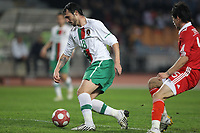 20100303: COIMBRA, PORTUGAL - Portugal vs China: International Friendly. In picture: Hugo Almeida (Portugal) and Zhang Linpeng (China). PHOTO: CITYFILES