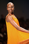 Alek Wek at This Day/Arise Magazine: African Fashion Collective 2009 held at The Promenade at the 2009 Fall Fashion Week at Bryant Park, NYC