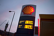 The price of petrol and other fuel at garages across the country continues to rise, as is shown at this Shell garage with both diesel and unleaded continuing to increase.