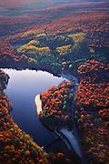 PA landscapes, Aerial Photograph, Pine Grove Furnace State Park, Autumn Foliage,  Pennsylvania