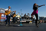 Sara Evans performs before the Sprint Cup NRA 500 at Texas Motor Speedway in Fort Worth on Saturday, April 13, 2013. (Cooper Neill/The Dallas Morning News)