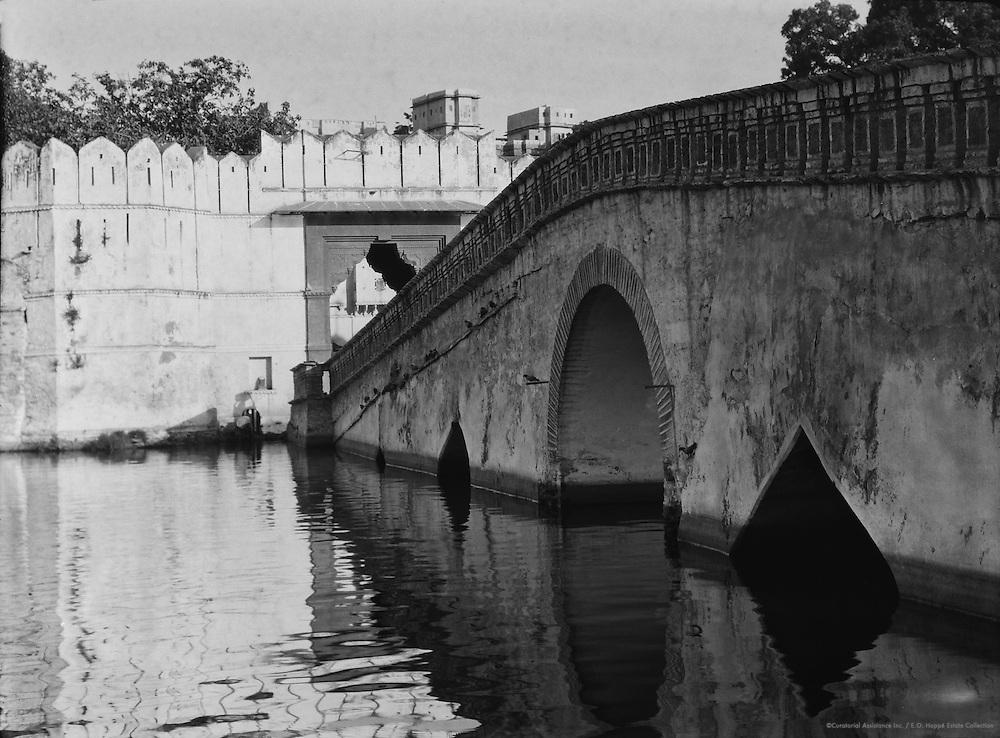 Chandpole Gate and Bridge, Udaiper, Udaipur, India, 1929
