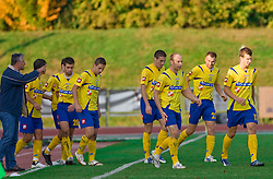 Head coach of Koper Nedzad Okcic and players of Koper at football match of 16th Round of First Slovenian League between NK Olimpija and Luka Koper, on October 31, 2009, in ZAK, Ljubljana, Slovenia.  Koper won 1:0. (Photo by Vid Ponikvar / Sportida)