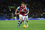 Ciaran Clark of Aston Villa in action. Barclays Premier League match, Everton v Aston Villa at Goodison Park in Liverpool on Saturday 21st November 2015.<br /> pic by Chris Stading, Andrew Orchard sports photography.