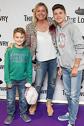 © Licensed to London News Pictures . 30/08/2017 . Salford , UK . Tricia Penrose . Purple carpet photos of celebrities, actors and invited guests arriving for the press night of the musical comedy , Addams Family , at the Lowry Theatre . Photo credit : Joel Goodman/LNP