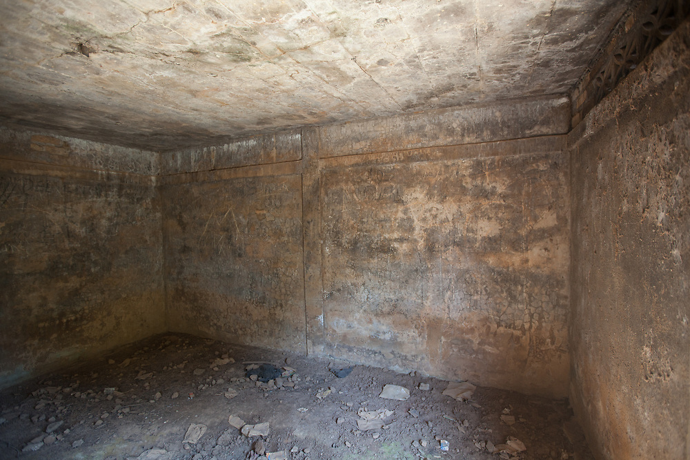 In El Mozote, Morazán, El Salvador, villagers were put into these rooms and killed in an infamous massacre. Approximately 1,000 people were killed here.