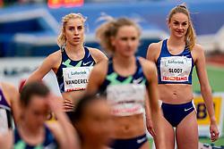 BregjeSlootof Netherlands, Elise VanderElst of Belgium in action on the 800 meter during FBK Games 2021 on 06 june 2021 in Hengelo.