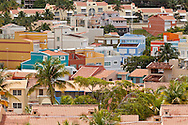 Bright tropical colors on the buildings at Palmas del Mar in Humacao