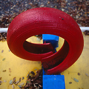 Detail of red tire