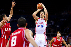 Bojan Bogdanovic of Croatia during the Preliminary Round - Group B basketball match between National teams of Croatia and Iran at 2010 FIBA World Championships on August 29, 2010 at Abdi Ipekci Arena in Istanbul, Turkey.  (Photo by Vid Ponikvar / Sportida)