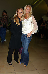 Left to right, AMANDA KYME and JENNY HALPERN at a private view of 'The World's Most Photographed' exhibition hosted by Vanity Fair and Mont Blanc to celebrate Greta Gabo's 100th Birthday at the National Portrait Gallery, St.Martin's Place, London on 19th September 2005.<br /><br />NON EXCLUSIVE - WORLD RIGHTS