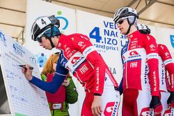 GROŠELJ Žiga (SLO) of  Adria  Mobil and KATRAŠNIK Gašper (SLO)of Adria Mobil during the UCI Class 1.2 professional race 4th Grand Prix Izola, on February 26, 2017 in Izola / Isola, Slovenia. Photo by Vid Ponikvar / Sportida