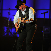 """ST. PAUL, MN - JULY 24:  Garth Brooks performs at the 2011 Starkey Hearing Foundation's 2011 """"So The World May Hear Awards Gala"""" in St. Paul, Minnesota on July 24, 2011. (Photo by Adam Bettcher/Getty Images for the Starkey Hearing Foundation) *** Local Caption *** Garth Brooks"""