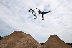 Review of the Year 2017: July: BMX'ers perform tricks during the BMX World Championships during the NASS Festival 2017 at the Royal Bath & West Showground in Shepton Mallet, Somerset.