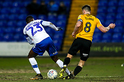 Ollie Clarke of Bristol Rovers is fouled by Corey Blackett-Taylor of Tranmere Rovers - Mandatory by-line: Robbie Stephenson/JMP - 11/02/2020 - FOOTBALL - Prenton Park - Birkenhead, England - Tranmere Rovers v Bristol Rovers - Sky Bet League One