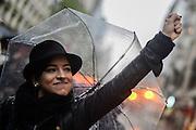 Santiago Mazzarovich/ URUGUAY/ MONTEVIDEO/ Se realizó en Montevideo una marcha contra la violencia machista por los últimos femnicidios y casos de violencia en Uruguay, y otros países de América Latina.<br /> <br /> En la foto: Marcha contra la violencia machista. Foto: Santiago Mazzarovich / adhocFOTOS.<br /> <br /> 20161019 día miércoles