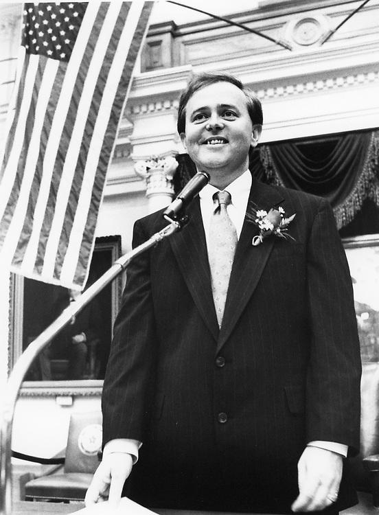 ©1991   Gay legislator Glen Maxey, D-Austin on his election to the Texas House.