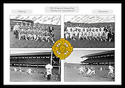 Collage of images from the 1957 All Ireland Hurling Final between Kilkenny and Waterford, played at Croke Park on 1st September 1957.