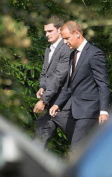 © Licensed to London News Pictures. 03/08/2015. Durham, UK. Picture shows Sunderland & England footballer Adam Johnson (LEFT) at Durham Crown Court. Johnson is accused of three counts of sexual activity with a girl under 16 and one count of grooming. Photo credit : Andrew McCaren/LNP