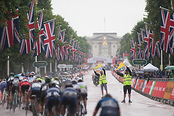 The peloton heads out for the penultimate lap during the Prudential Ride London Classique - a 66 km road race, starting and finishing in London on July 29, 2017, in London, United Kingdom. (Photo by Balint Hamvas/Velofocus.com)