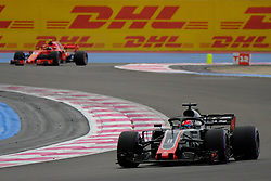 June 23, 2018 - Le Castellet, Var, France - Haas 8 Driver ROMAIN GROSJEAN (FRA) in action during the Formula one French Grand Prix at the Paul Ricard circuit at Le Castellet - France. (Credit Image: © Pierre Stevenin via ZUMA Wire)
