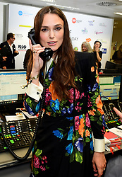 Keira Knightley during the 13th BGC Annual Charity Day at Canary Wharf in London, in commemoration of the 658 employees and 61 Eurobroker employees of BGC who were lost in the World Trade Center attacks on 9/11.