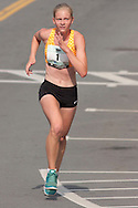 Middletown, New York - Stephanie Gerland of Garden City was the female winner in the Orange Regional Medical Center's Run 4 Downtown road race on Aug. 16, 2014. Her time was 24 minutes, 51 seconds, on the four-mile course. All the proceeds from the Run 4 Downtown go to revitalizing Middletown's Historic district.