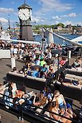 Oslo, Norway. Harborside bar and restaurant, at Aker Brygge
