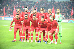 November 17, 2018 - Konya, Türkiye - Turkey team  during Turkey vs. Sweden UEFA Nations League, League B game at Konya, Turkey, 17th Nov., 2018 (Credit Image: © Abdurrahman Antakyali/Depo Photos via ZUMA Wire)